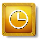 Golden clock face icon — Stock Vector