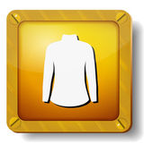 ícone de vestido dourado — Vetor de Stock