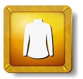 Golden dress icon — Stock Vector