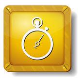Golden stopwatch icon — Stock Vector
