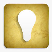 Parchment bulb icon — Stock Vector