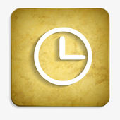 Parchment clock face icon — ストックベクタ