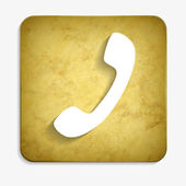 Parchment handset icon — Stock Vector
