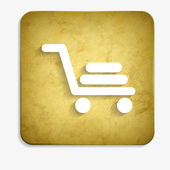 Parchment shopping cart icon — Stock Vector