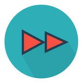 Rewind parchment icon — Stock Vector