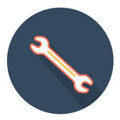 Wrench key icon — Stock Vector