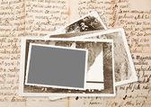 Ancien cadre photos — Photo