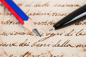 Pen and pencil — Stock Photo