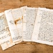 Antique hand writings — Stock Photo