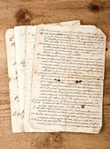 Antique handwritings — Stock Photo