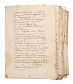 Stare rękopisy — Zdjęcie stockowe
