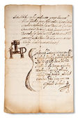 Oude manuscript — Stockfoto