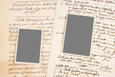 Old letters and photos — Stock Photo
