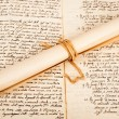 Stock Photo: Rolled parchment