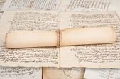 Rolled manuscripts — Stock Photo