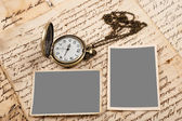 Letters pictures and watch — Stock Photo