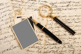 Picture and letters — Stock Photo