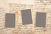 Old letters with pictures — Foto Stock