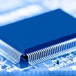 Stock Photo: Processor chip on circuit board