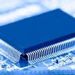 Processor chip on circuit board — Stock Photo #12640961