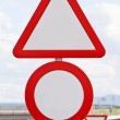 Traffic signs on a highway — Stock Photo