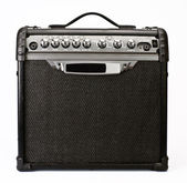 Guitar amplifier isolated on white background — Photo