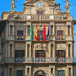 Facade of the Town Hall of Pamplona, Navarra, Spain — Stockfoto