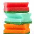Scourers stacked white base colors — Stock Photo