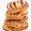 Foto Stock: Flaky stuffed pastries group jam