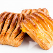 Stockfoto: Flaky stuffed pastries group jam