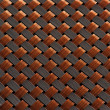 Skin fiber braided copper plating, making abstract close — Stock Photo #34255055