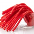 Soft sticks tangle colored licorice — Stock Photo #34567033