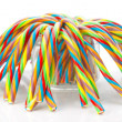 Soft sticks tangle colored licorice — Stock Photo #34567243