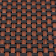 Skin fiber braided copper plating, making abstract close — Stock Photo