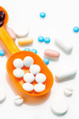 Potpourri of pills and medicines varied — Stock Photo