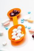 Potpourri of pills and medicines varied — Foto Stock
