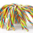 Soft sticks tangle colored licorice — Stock Photo #39254729