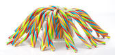 Soft sticks tangle colored licorice — Stock Photo