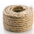 Stock Photo: Rope Coiled on white background