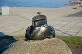 Monument to purse (Purse Luck), Petrozavodsk, Karelia — Stock Photo