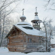 Wooden chapel (18th century) — Stock Photo
