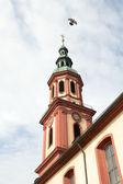 Clocher d'église, croix sainte (offenburg, allemagne) — Photo