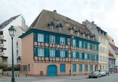 Half-timbered house in Petite-France, Strasbourg — Stock Photo