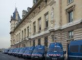 Gendarmerie cars near the Conciergerie, Paris, France — Stock Photo