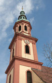 Holy Cross Church (1700), spire (Offenburg, Germany) — Stock Photo