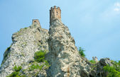 Maiden tower on sky background. Devin castle. Bratislava, Slovak — Stock Photo