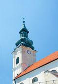 Church of Holy Cross (Church of Virgin Mary), spire. Devin, Bra — Stock Photo