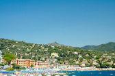 Santa Margherita Ligure, view of beach, Ligurian coast, Italy — Stock fotografie