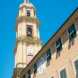 Bell tower of Basilica dei Santi Gervasio e Protasio (circa 1118 — Stock Photo