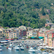 Portofino, view of harbor and Piazzetta. Liguria, Italy — Stock Photo